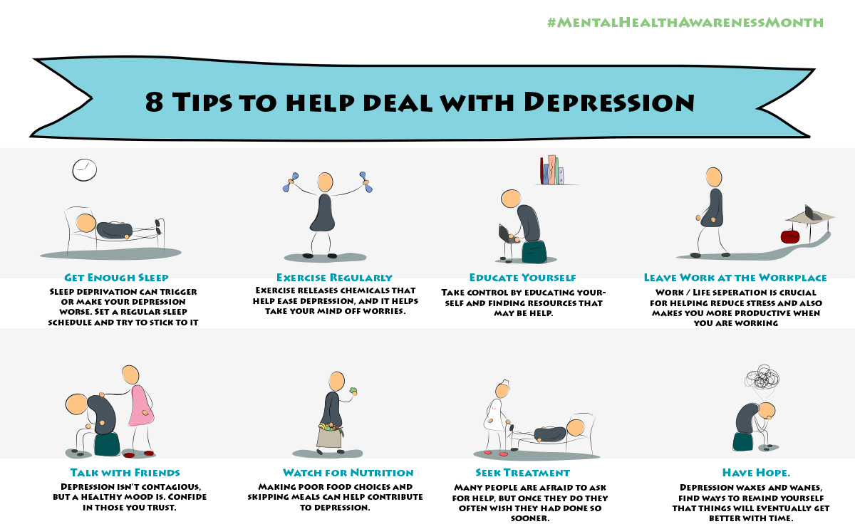 Tips To Deal With Depression Infographic